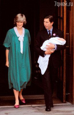 Принц Чарльз ипринцесса Диана: первая фотосессия сноворожденным сыном