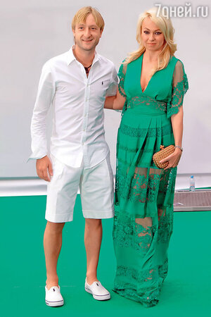 Яна Рудковская с Евгением Плющенко
