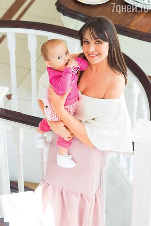 Оксана Федорова  с дочкой Лизой