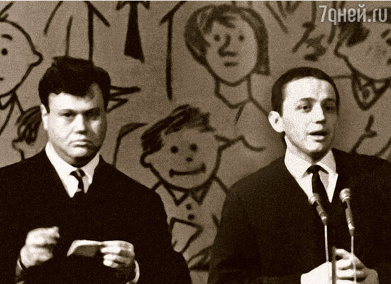 КВН, конкурс капитанов: Матвей Левинтон и Александр Масляков, 1967 г.