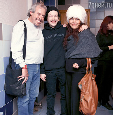 Андрей Макаревич с сыном Иваном и женой Натальей