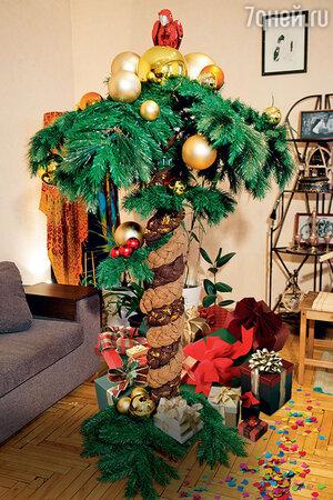 Елка в виде пальмы