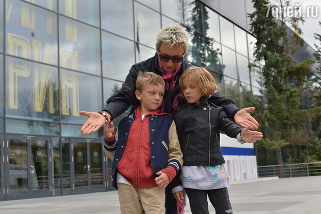 Диана Арбенина с детьми Артемом и Мартой