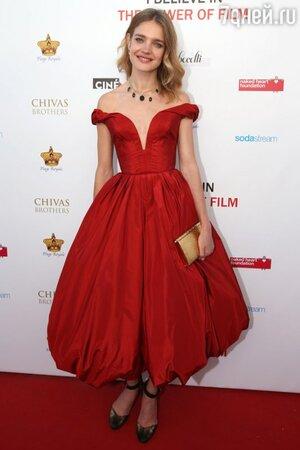 Наталья Водянова в платье от Ulyana Sergeenko