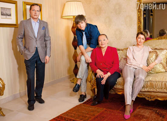 Моя семья: сын Данила, внук Андрей  и невестка Алена