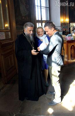 Настоятель храма Святителя Мартина Исповедника протоиерей Александр Абрамов стал крестным отцом Вари