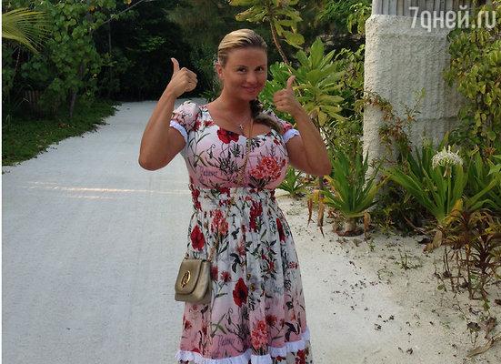 Анна Семенович провела две недели на Мальдивах