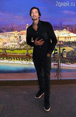 В Москву приехал актер Эдриан Броуди — обладатель «Оскара» за роль в фильме Романа Полански «Пианист»