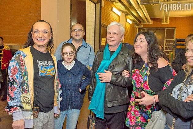 Гия Эрадзе, Лолита Милявская с дочерью Евой и Борис Моисеев