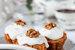 Морковные кексы с грецкими орехами