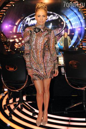Дженнифер Лопес в платье от Emilio Pucci