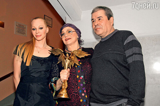 Олеся Рудакова и Нина Русланова с мужем Рафкатом