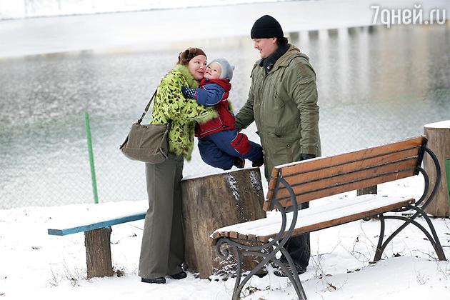 Татьяна Абрамова с мужем и сыном