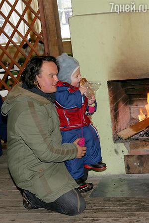 Муж Татьяны Абрамовой Сергей с сыном Иваном