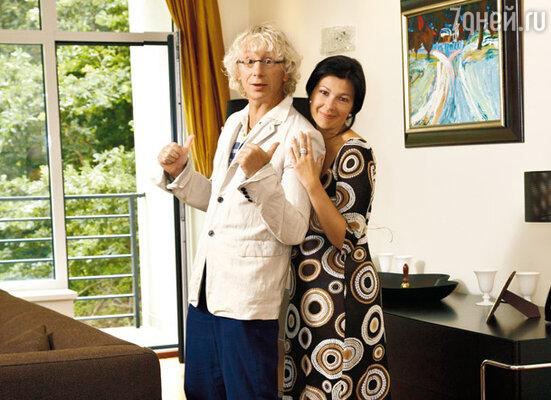 Аркадий с женой Наташей