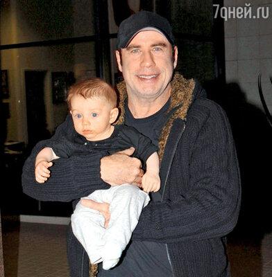 С сыном Бенджамином