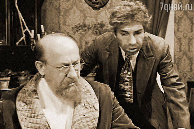 Евгений Евстигнеев и Владимир Толоконников в фильме «Собачье сердце». 1988 г.
