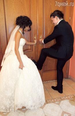 Алексей Кабанов с невестой Розой