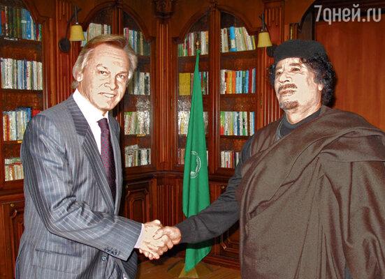 Алексей Пушков с Муаммаром Каддафи