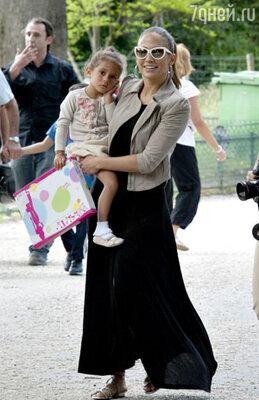 С дочерью Эмми