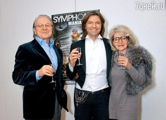 Бокал шампанского за успех! С родителями Юрием Федоровичем и Людмилой Михайловной после выступления