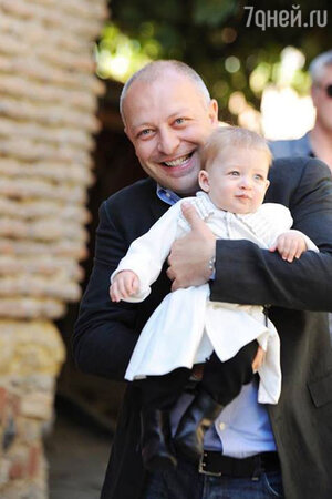 Арчил Геловани с сыном Костей