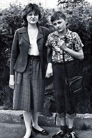 Ян Пузыревский с сестрой Ольгой