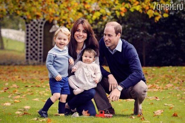 Кейт Миддлтон и принц Уильям, принц Джордж и принцесса Шарлотта