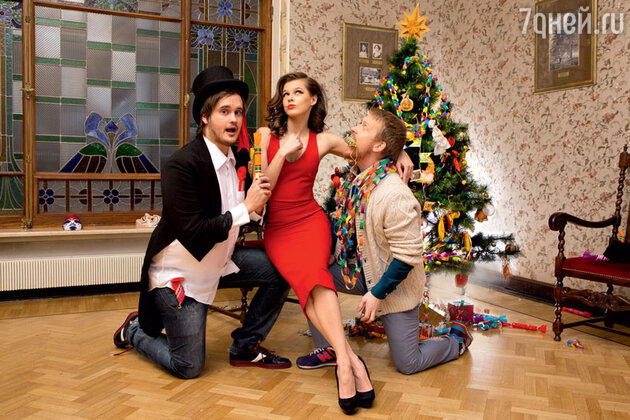 Антон Богданов, Катерина Шпица и Александр Домогаров-младший