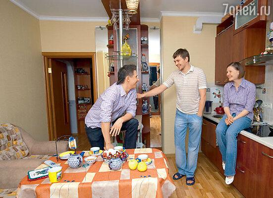 В гостях у сестры Тани и ее мужа Юрия