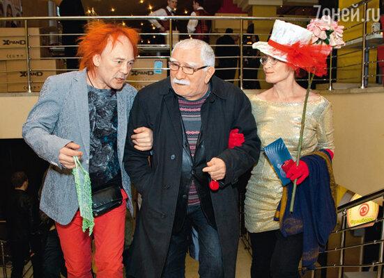 Армен Джигарханян с «лицедеями» Леонидом Лейкиным и Анной Орловой