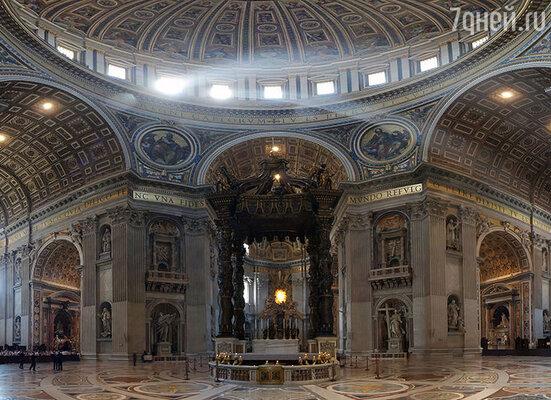 За кафедру в главном соборе Рима и киворий — сень, которая обозначала место погребения святого Петра, — Бернини заплатили огромные деньги — десять тысяч золотых скудо