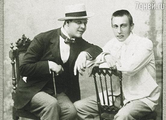 С Федором Шаляпиным, 1903 г.