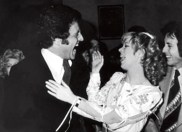 Джо Дассен и Кристин Дельво в день своей свадьбы. 14 января 1978 г.