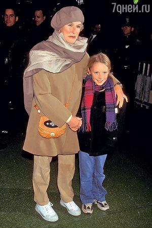 Глен Клоуз с дочерью