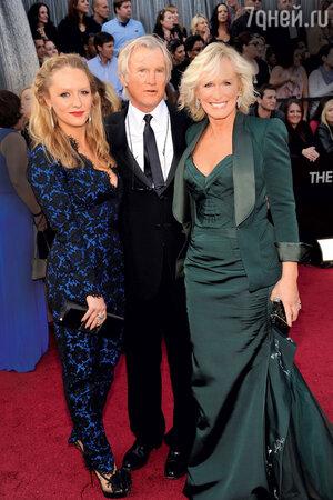 Гленн Клоуз с мужем и дочерью