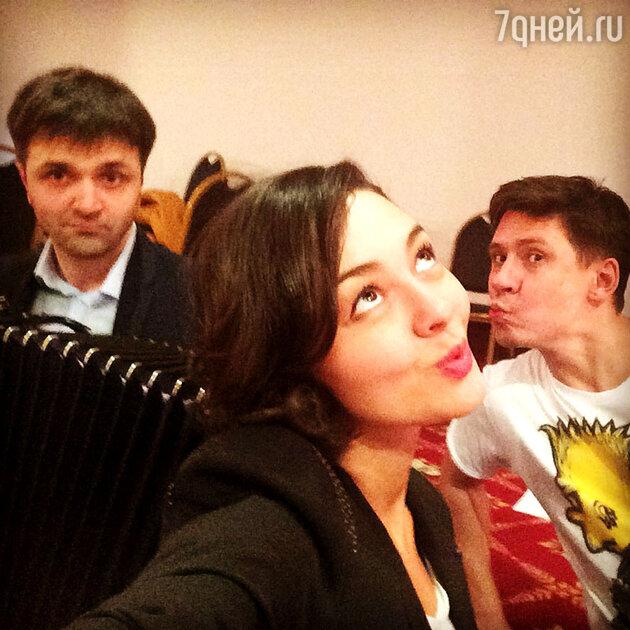 Марина Кравец, Тимур Батрутдинов и Зураб Матуа