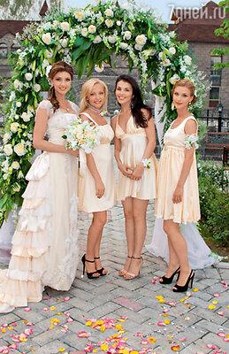 Невеста с подружками Верой Маевской, Сати Казановой и Светланой Ивановой
