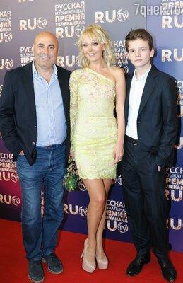 Валерия с мужем и сыном