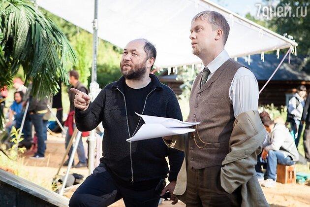 Тимур Бекмамбетов и Сергей Светлаков на съемках фильма «Ёлки 1914»