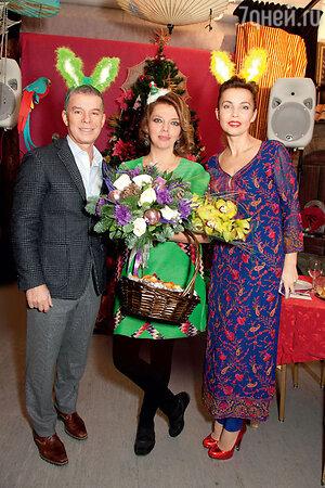 Екатерина Рождественская,  Олег и Марина Газмановы