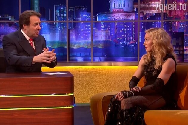 Мадонна на шоу Джонатана Росса