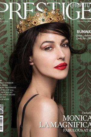 Моника Беллуччи (Monica Bellucci) на обложке ноябрьского номера журнала Prestige Hong Kong