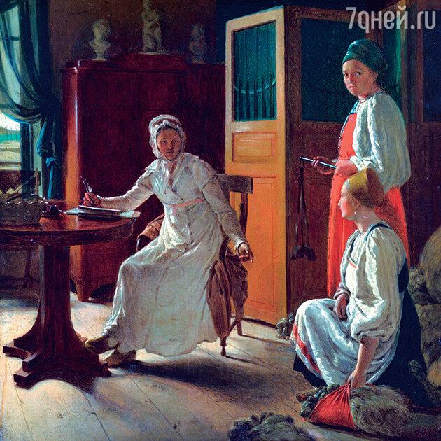 А. Венецианова «Утро помещицы»