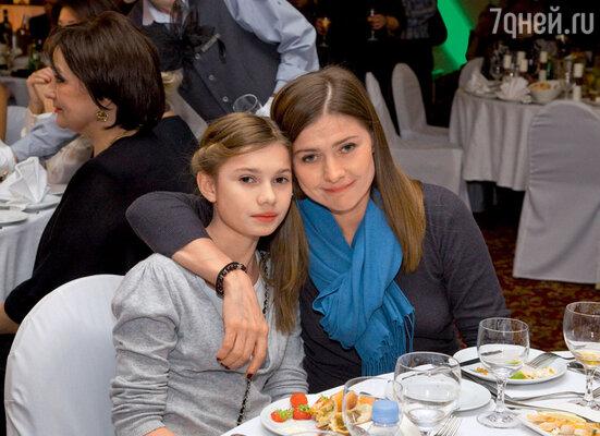 Мария Голубкина с дочерью Настей