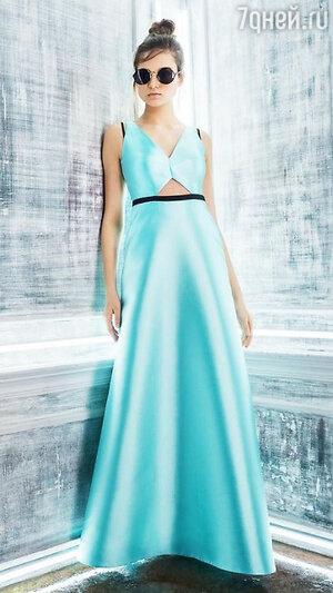 6. Бирюзовое платье в пол линия Signature от Kira Plastinina, 9999 р.