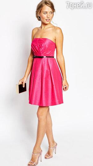 4. Платье-бандо цвета фуксии Shirley Dress от Coast, 8600 р.