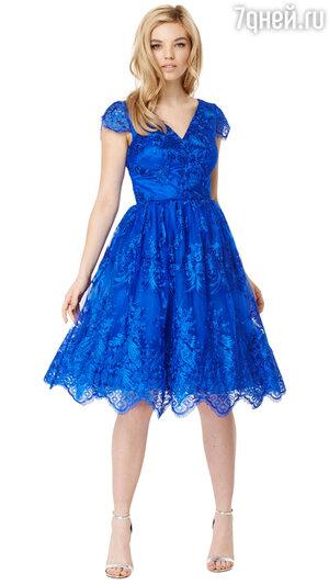 3. Платье цвета электрик Annabel Dress от Chi Chi London, 7100 р