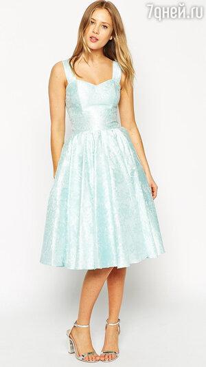1. Мятное платье Floral Jacquard Sweetheart от ASOS SALON, 8600 р.