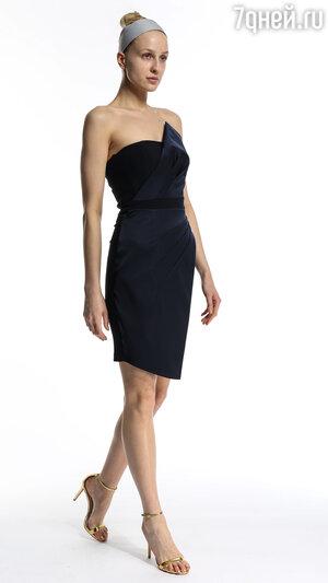 14. Темно-синее платье-бюстье от River Island, 6790 р.